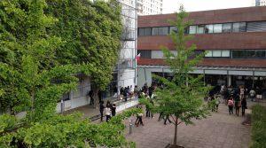 Une vue de la cours du Lycée Condorcet