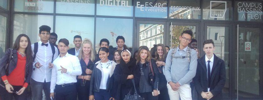 12 octobre 2017 : Les élèves de 1ère STMG 4 à la découverte des métiers du numérique avec L'École Digital Campus