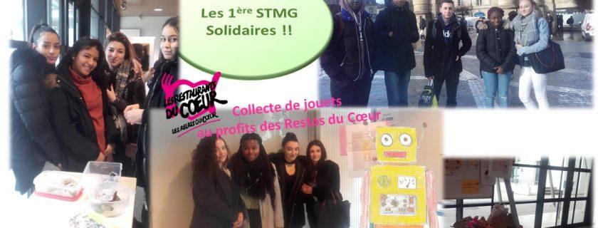 Les 1ères STMG solidaires !