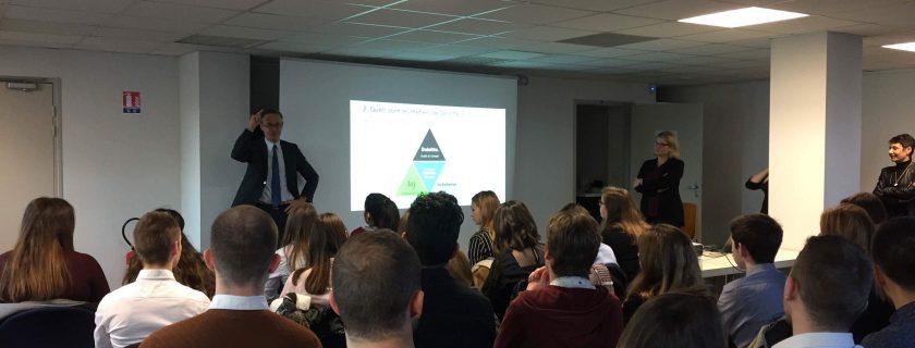 1er décembre 2017 : les BTS CG assistent à une conférence chez Deloitte In Extenso Bordeaux