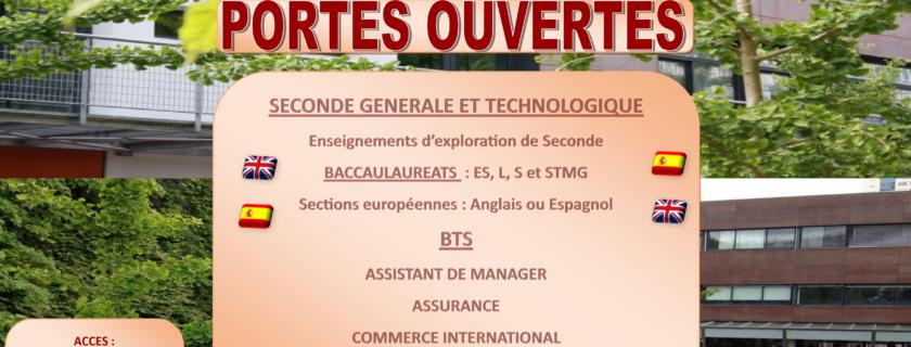 10 mars 2018 : Les journées Portes Ouvertes du lycée Condorcet