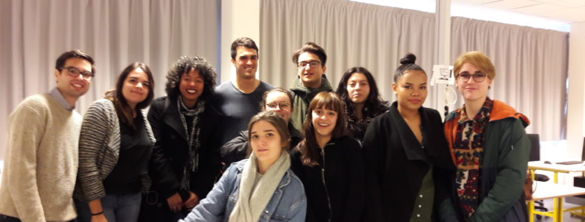 1 février 2018 : Les élèves de terminale L, spécialité Droit et Grands Enjeux du Monde Contemporain, accueillent trois étudiants en Master de Droit à l'Université de Bordeaux dans le cadre de la Clinique du Droit