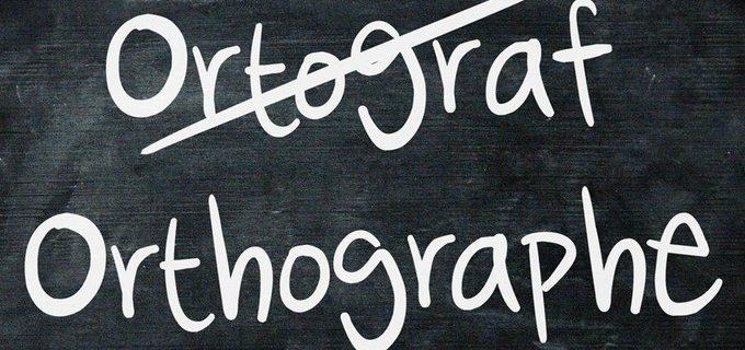 challenge d'orthographe à venir….